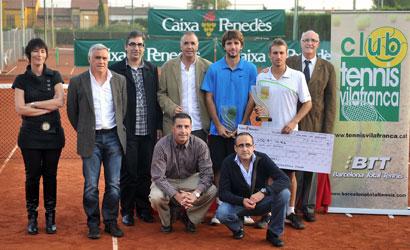 Steven Díez, campió i Jordi Samper, finalista de l'ITF del CT Vilafranca.