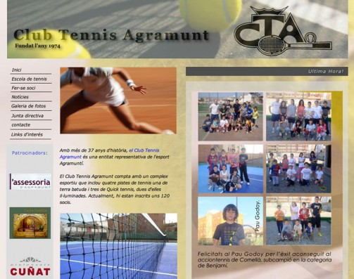 El Club Tennis Agramunt estrena el seu nou lloc web