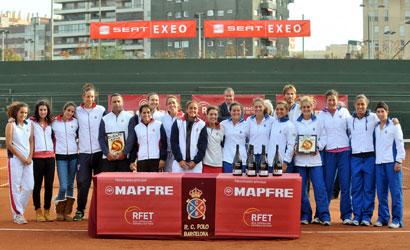 RCT Barcelona-1899, campió i CT Barcino, finalista del Campionat d'Espanya Femení.