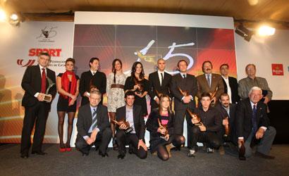 Premiats a la Festa de l'Esport Català 2011.