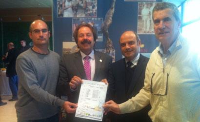 Roger Badia, Francesc Orriols, Santiago Siquier i Albert Riba (esquerra a dreta)