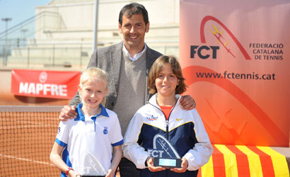 Clara de Santiago i Jorge Plans, Campions de Catalunya Benjamins 2012.