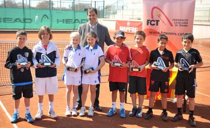 Foto de grup dels finalistes del Campionat de Catalunya Benjamí 2012.