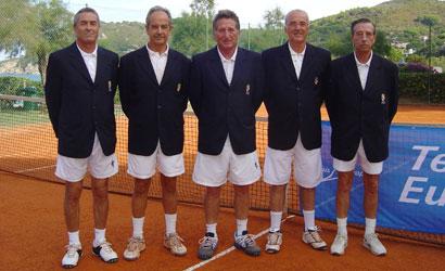 Equip del CT de La Salut, campions de Catalunya +65 2012.