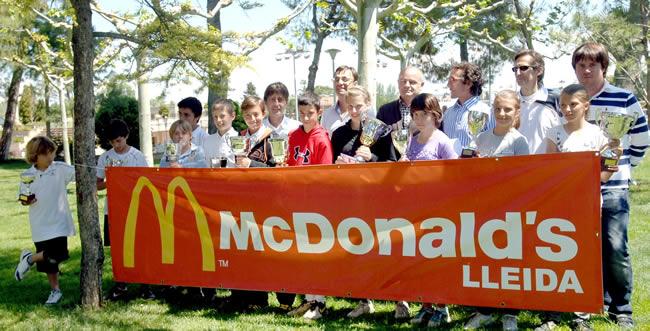 El II Open McDonald's entrega els trofeus als millors al CT Lleida