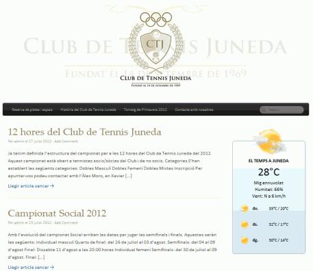El Club Tennis Juneda posa en marxa la seva web