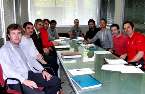 Miqui Moreno,  a la trobada de l'Àrea Física de la Federació Catalana