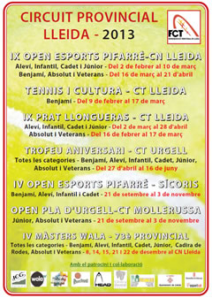El Circuit Provincial 2013 de tennis es posa en marxa