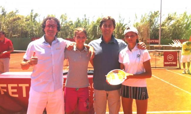 Aran i Ares Teixidó triomfen al Campionat d'Espanya Aleví amb el títol de campiones de dobles i el sots-campionat individual