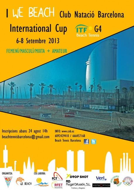 I WE BEACH International Cup ITF G4 al Club Natació Barcelona 6 al 8 de Setembre 2013