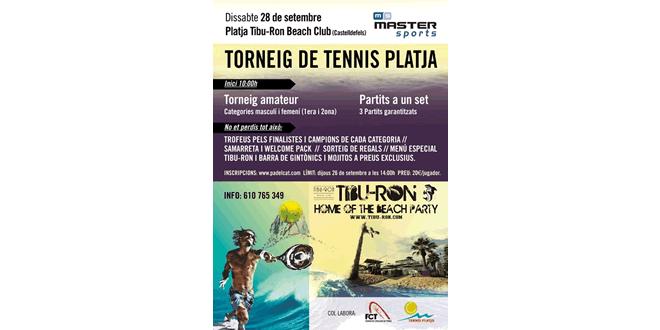 Master Sports i Tennis Platja col·laboren per organitzar un Torneig Amateur