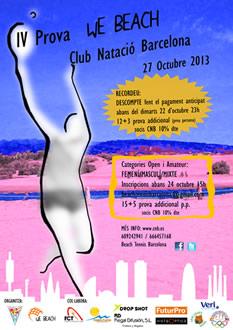 IV Prova WE BEACH Club Natació Barcelona 27 d'octubre 2013