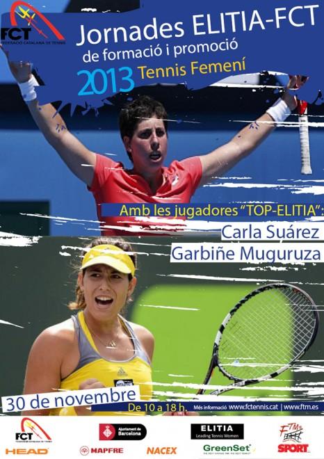 Carla Suárez i Garbiñe Muguruza a les Jornades Elitia-FCT de Tennis Femení