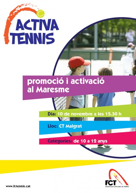 L'Activa Tennis arriba a la Comarca del Maresme