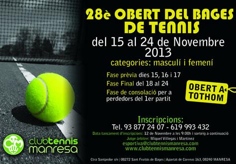 28è Obert del Bages de Tennis al CT Manresa