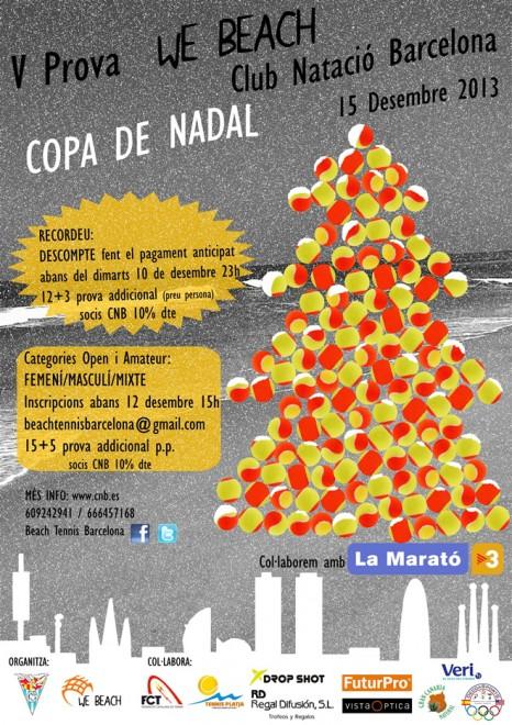 V Prova WE BEACH Club Natació Barcelona 15 de desembre 2013