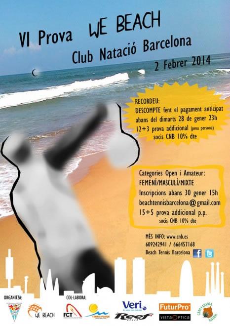 Tret de sortida de la temporada 2014 amb la VI prova We Beach-BCN