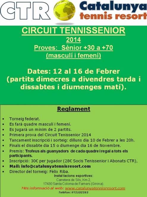 prova del Circuit Tenis senior