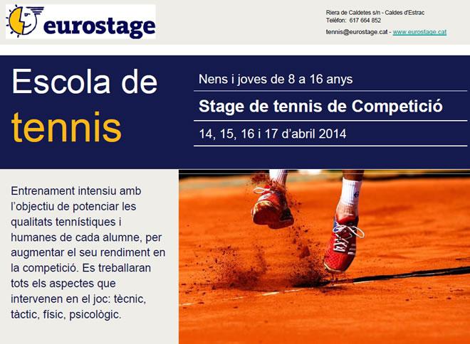 Estage escola de tennis Eurostage.