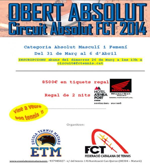 Obert Absolut: Circuit Absolut FCT 2014