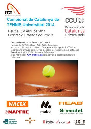Pòster Campionat Catalunya Universitari de Tennis 2014