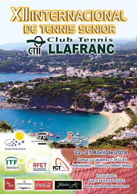 Del 22 al 27 d'abril  les instal·lacions del Club Tennis Llafranc acolliran el XII Internacional de Tennis Sènior