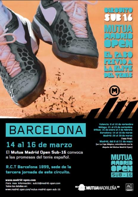 14 - 16 de març | RCT Barcelona 1899 El Mutua Madrid Open Sots16 convoca a les promeses del tennis espanyol