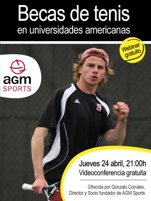 AGM Sports realitzarà una videoconferència gratuïta sobre BEQUES DE TENNIS EN UNIVERSITATS AMERICANES