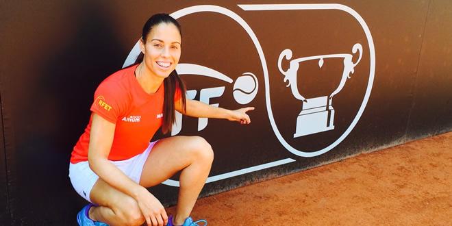 Primera doble sessió d'entrenaments de la selecció espanyola Mapfre de tennis femení