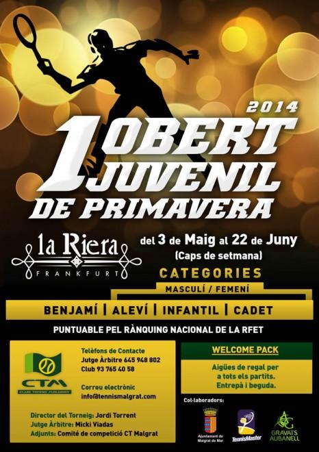 El CT MALGRAT organitza el 1er OBERT JUVENIL DE PRIMAVERA'14