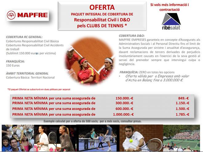 MAPFRE renova el seu acord amb la Federació Catalana de Tennis