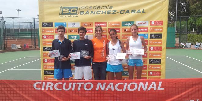 Alejandro Reguant i Anna Bullo vencedors de la 6a prova RLT Tour MARCA Joves Promeses a Sánchez-Casal.