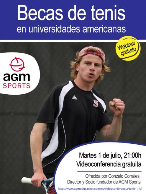 AGM Sports | Videoconferència gratuïta sobre BEQUES DE TENNIS EN UNIVERSITATS AMERICANES