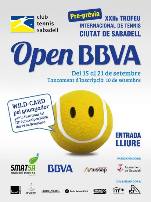 El CT Sabadell celebrarà la 1a preprèvia del XXIIè Trofeu Internacional Ciutat de Sabadell Open BBVA del 15 al 21 de setembre.