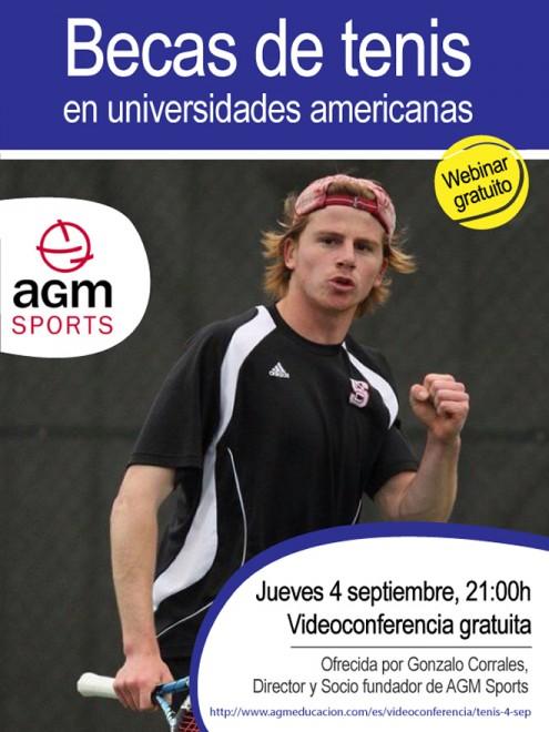 AGM Sports| videoconferència gratuïta sobre BEQUES DE TENNIS EN UNIVERSITATS AMERICANES