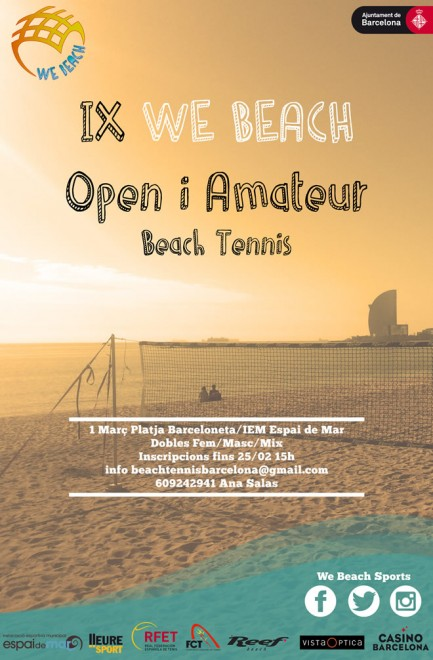 Tennis Platja FCT IX We Beach