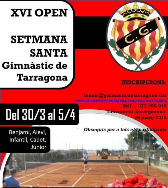26 de març tancament   Torneig HEAD XVI Open de Setmana Santa   Gimnàstic de Tarragona