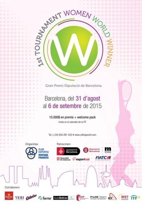 Barcelona acull el 1st Tournament Women World Winner amb la participació de les millors tennistes internacionals de la ITF Pro Circuit