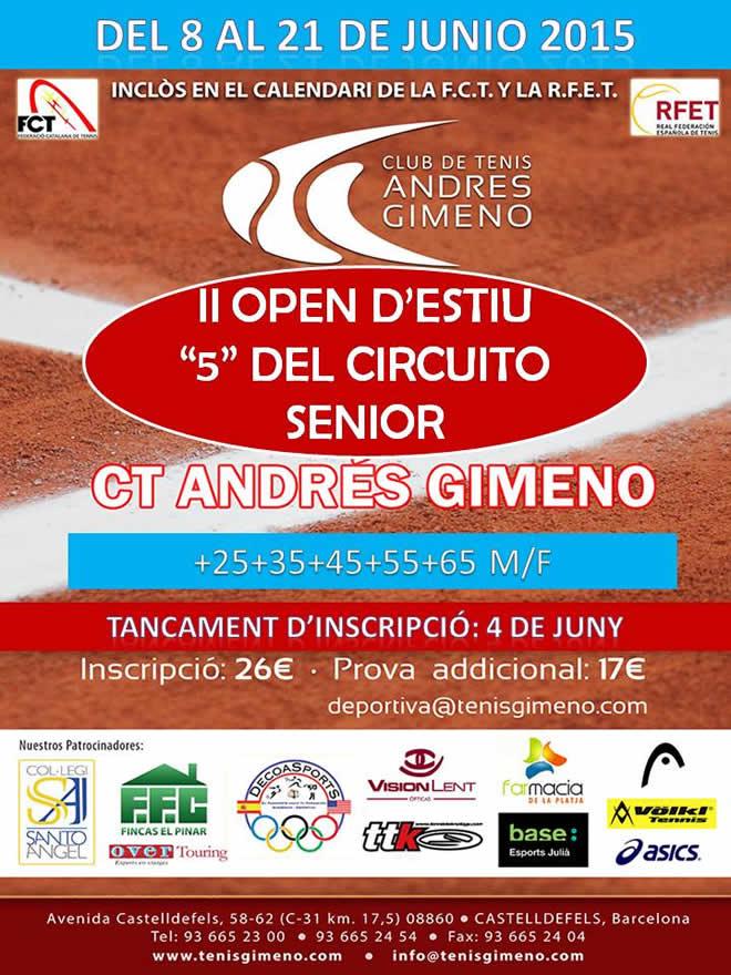 """II Open d'Estiu """"5"""" del circuit senior"""