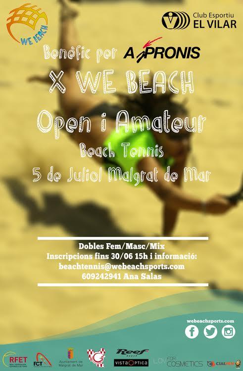 Juga a beach tennis per una bona causa amb el X We Beach benèfic pro Aspronis