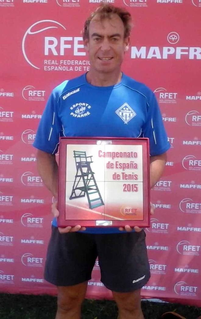 Carles Mòdol, nou campió d'Espanya de veterans en dobles