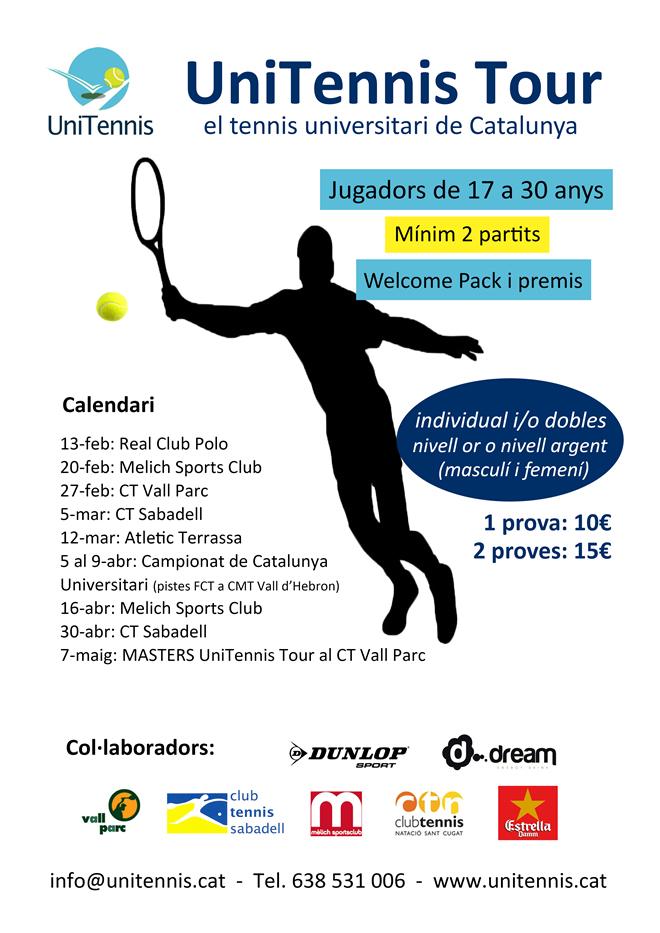 UniTennis Tour | El tennis Universitari de Catalunya