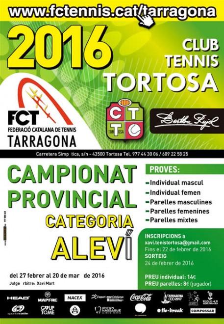 Cartell Provincial Aleví - Tortosa per escrit