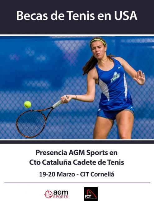 El equipo de AGM Sports, empresa que gestiona becas deportivas en universidades de Estados Unidos, estará presente durante este sábado y domingo en el CIT de Cornellá en el Campeonato de Cataluña de Tenis en Categoría cadete. Puedes registrarte para recibir más información en
