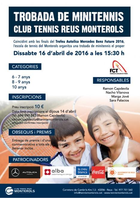 Poster Minitennis CT Reus Monterols